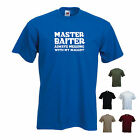 'Master Baiter, always messing with my maggot'. - Funny mens fishing  t-shirt.