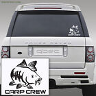 CARP CREW hunter pike fishing angler rod spinning car sticker 17cm x 14cm