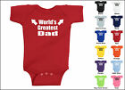 Worlds Greatest Dad Baby One Piece T-shirt, Creeper, Romper