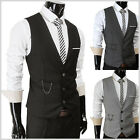 (SVE) THELEES Mens slim sit chain point 3 button vest 4 COLOR