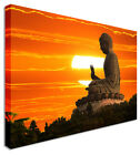Large Modern Buddha Sunset Canvas Wall Art Pictures