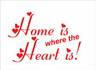 HOME IS WHERE THE HEART IS Quote sticker decal vinyl wall art decoration HH1