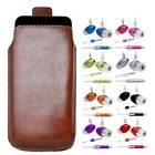 M- BROWN PULL TAB POUCH CASE COVER + HANDS FREE HEADSET fOr BlackBerry Bold 9780