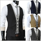 THELEES Mens premium Business Casual Layered style Slim Vest collection