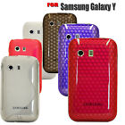 FOR SAMSUNG GALAXY Y S5360 DIAMOND HEX GEL SOFT SILICONE MOBI;E PHONE CASE COVER