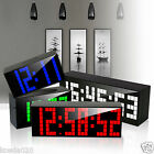 Lights Led Digital Kitchen Wall Clock Bedroom Table Alarm Watch Snooze Time Date