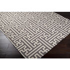 TAUPE and IVORY Basketweave, 100% Wool Rug, MID CENTURY MODERN or Transitional