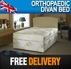 3FT 4FT6 DOUBLE 5FT KING 6FT SUPER KING ORTHOPAEDIC DIVAN BED + ORTHO MATTRESS
