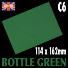 A6 C6 Bottle Green Premium Quality Gummed Flap Envelopes - 10's,20's,30's,40's