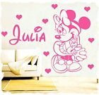 Minnie Mouse PERSONALISED kids NAME Vinyl Wall Sticker Art Decal (CH28)