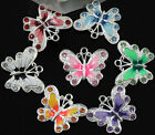 5pcs/10pcs Beautiful Enamel Animal Butterfly Pendant Charms you pick color/size