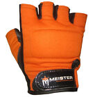 ORANGE WEIGHT LIFTING WORKOUT LEATHER GLOVES Meister Fitness Training ALL SIZES