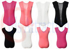 Women Stripe Mesh Insert Panel Body Suit Ladies Contrast Stripe Sexy Leotard Top