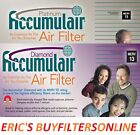 4 PACK ACCUMULAIR MERV 11 & 13 HOME HOUSE  PLEATED AIR FILTERS 4 ALLERGY RELIEF