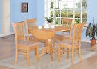 5PC ROUND DINETTE KITCHEN DINING SET TABLE w/ 4 MICROFIBER UPHOLSTERED CHAIR OAK