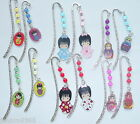 Japanese Kokeshi Geisha /Russian Doll Matryoshka Babuska Magic Bead Bookmark