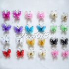 "10 Of 1"" 2.5cm Nylon Glitter Artificial Butterfly Rhinestone Wedding Favor"