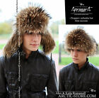 Genuine Russian TRAPPER Ushanka fur hat RANCHED raccoon Men's Waschbär Pelzmütze