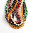 1 Strand Mixed Round Millefiori HANDMADE Lampwork Glass Loose Bead 8mm Dia
