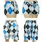 Fashion Unisex Women Casual Beach wear Short Pants Men's Checked Swimwear Trunks