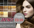 From £9.99 !!! Clip in Remy Human Hair Extensions All Color & Style