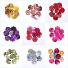 50pcs 8 Colors Beautiful Flat Mussel Shell Coin Round Shell Charms Beads 18mm