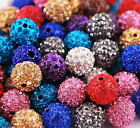 10Pcs Rhinestone Crystal Paved Jewelry Ball Spacer Beads For Bracelet,Hot Sale!