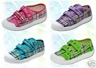 GIRLS CANVAS SHOES -TRAINERS - SNEAKERS UK size 9-3 /EUR 27-36 GROOVY !