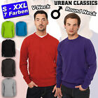 URBAN CLASSICS KNITTED SWEATSHIRT V-NECK / CREWNECK STRICK PULLOVER PULLUNDER