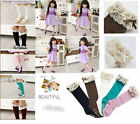 New Kids Toddlers Girls Soft Knee High School Socks 2-8Y Tights Leggings Soft