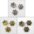 500Pcs Antiqued Silver Gold Bronze Tone Tiny-Flower End Bead Caps 8mm P813