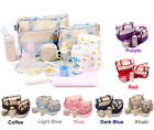 5Pcs Set Baby Changing Diaper Nappy Bag Outdoor Mom Handbag Multifunctional Bag