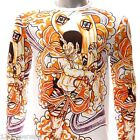 ls11 M L XL Japanese Irezumi Tattoo Long Sleeve T-shirt God Indie Rock Emo Biker