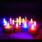 New 24/60/120pcs LED Flameless Tealight Electronic Candles Lights 4 Colors