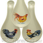 NEW CERAMIC FUNKY CHICKEN SPOON REST,6 CHICKENS TO CHOOSE FROM.POULTRY/HEN GIFTS