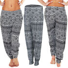 NEW Womens Ladies ALI BABA Small Aztec Print Trouser Legging Size 8-14 S M L XL