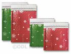 Metallic Matt Christmas Design Bubble Wrap Lined Padded Mailing Envelopes / Bags