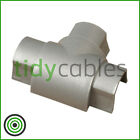 D-Line 50x25 Equal T-Junction TV Cable Cover Wire Hiding Trunking (All Colours)