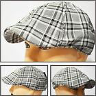 NEW CRUSHABLE DUCK BILL NEWSBOY  IVY DRIVER GOLF CASUAL HAT CAP BLK&GY PLAID3608