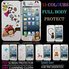 NEW STYLISH FULL BODY PROTECT HARD CASE COVER FITS APPLE IPHONE 5 5S