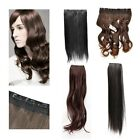 1PCS Straight/Curly Synthetic Fiber Wig Clip in hair extension with Clips