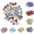 Wholesale 100pcs 4x3mm Glass Crystal Bicone Shaped Spacer Beads Jewelry DIY 4mm