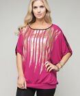 Ladies Women Plus Size Open Shoulder Party Top Blouse Size 14 16 18 NEW 3COLORS