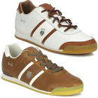 K SWISS RUNNING TRAINER LEATHR BOOT WHITE BROWN LACE UP SHOES