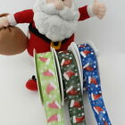 3x metres wired  christmas santa father christmas hat ribbon 25mm & 40 mm