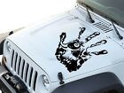 Skull hand Print Hood Decal 23x24 Universal Fits: Car truck Suv Jeep In 9 Colors