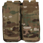 MOLLE Dual Pouch - Velcro Lined Exterior Under Snap Closure, 7 3.4 x 6 .5 x 3""