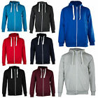 New Mens Plain Zip Fleece Hoodie Hooded Hoody Top Jacket BIG Size S M L XL XXL