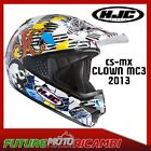 HJC CASCO CS-MX CLOWN 2013 XS S M L XL HELMET CROSS OFF ROAD ENDURO