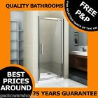 Hinge and Pivot Shower Door Enclosure Deluxe Chrome Glass 760 800 900. 1850mm